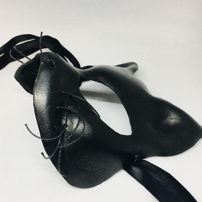 """Эксклюзивная кожанная маска кошка """"BLACK CAT"""""""