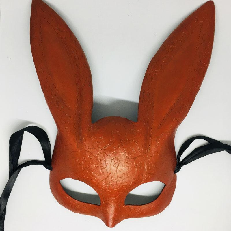 """Эксклюзивная кожанная маска зайки """"RED RABBIT"""""""