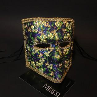 """Эксклюзивная карнавальная венецианская маска Баута """"Ландыши"""""""
