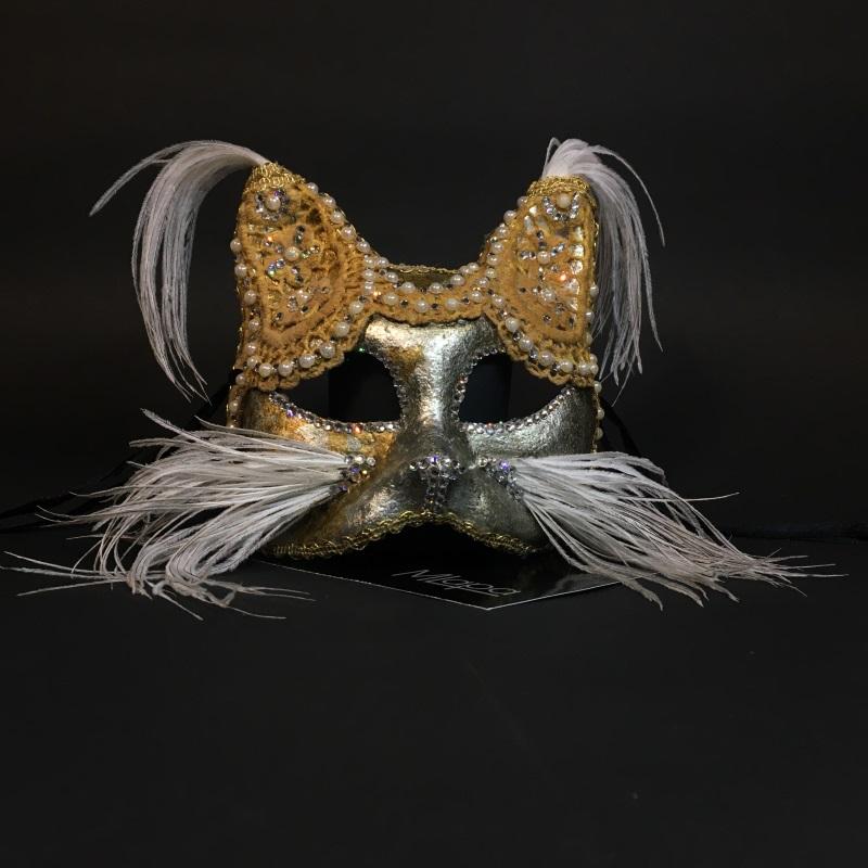 """Эксклюзивная карнавальная венецианская маска кошка """"GATTA ANTICA"""""""
