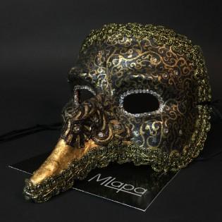"""Эксклюзивная карнавальная венецианская маска """"Капитан"""" коллекции """"NOTTE"""""""