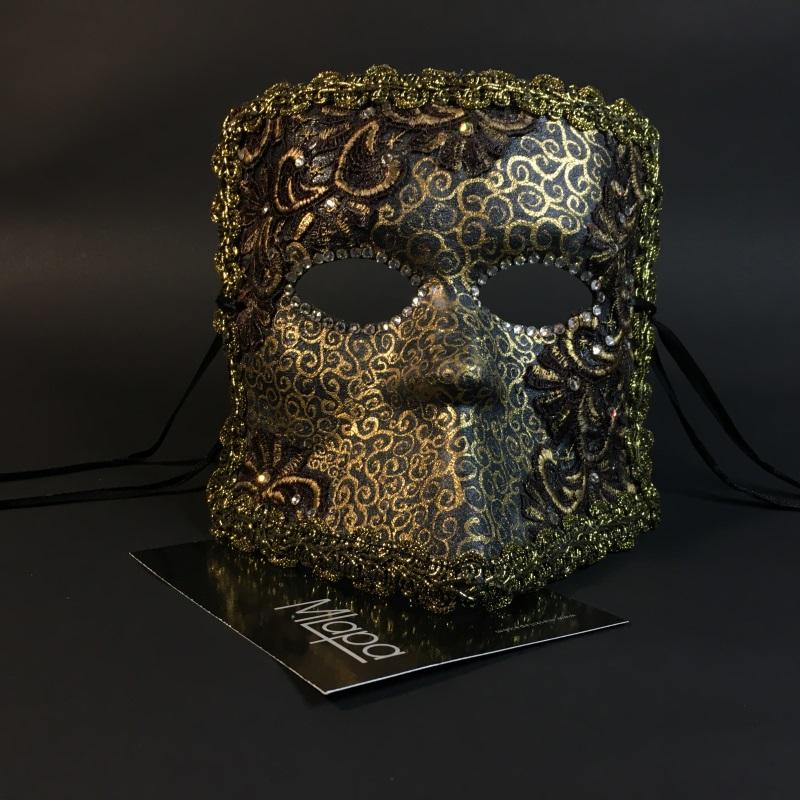 """Эксклюзивная карнавальная венецианская маска """"Баута"""" коллекции """"NOTTE"""""""