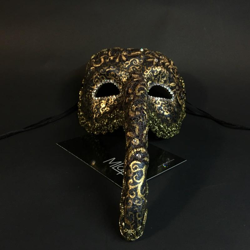 """Эксклюзивная карнавальная венецианская маска """"Турецкий Нос"""" коллекции """"NOTTE"""""""