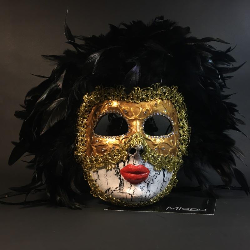 """Эксклюзивная декоративная венецианская маска Вольто """"MASCHERATA"""""""