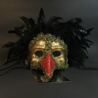 """Эксклюзивная карнавальная венецианская маска Капитан """"GOLDEN GALLO"""""""