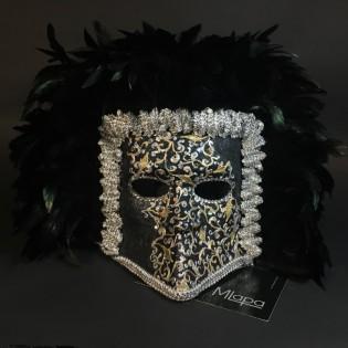 """Эксклюзивная карнавальная венецианская маска Баута """"MOZART"""""""