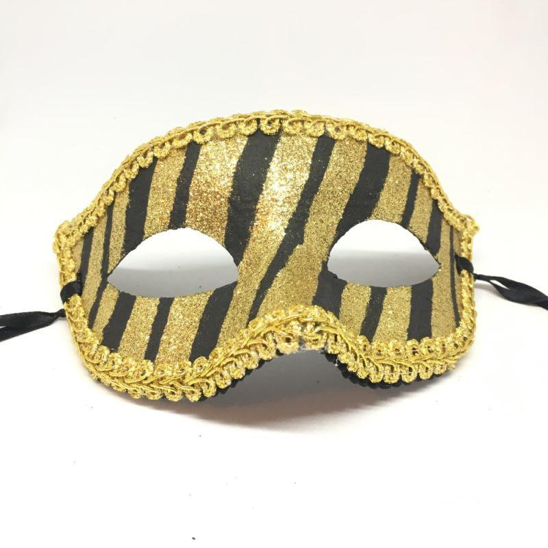 "Карнавальная маска ""Золотая зебра"""