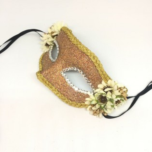 """Карнавальная маска """"Маргаритка золотистая"""""""
