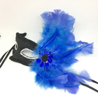 """Карнавальная маска """"Синие крылья"""""""
