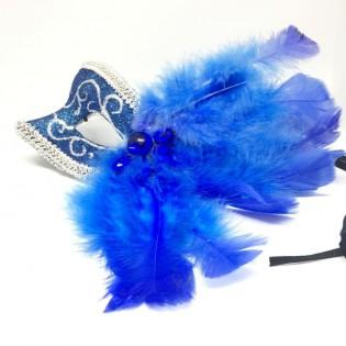 """Карнавальная маска """"Синие брызги"""""""