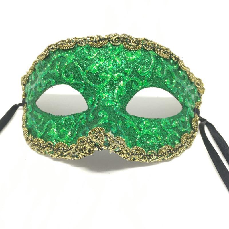 "Карнавальная маска ""Зеленые узоры"""
