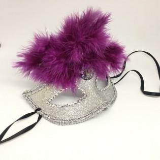 """Карнавальная маска """"Фиолетовый фонтан"""""""