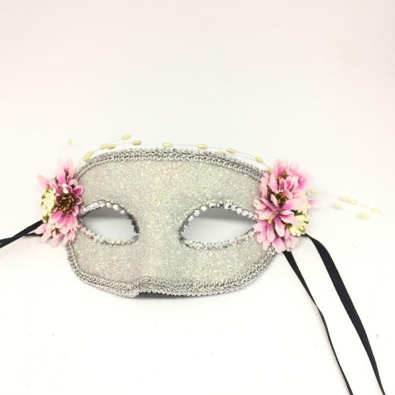 """Карнавальная маска """"Розовые маргаритки"""""""