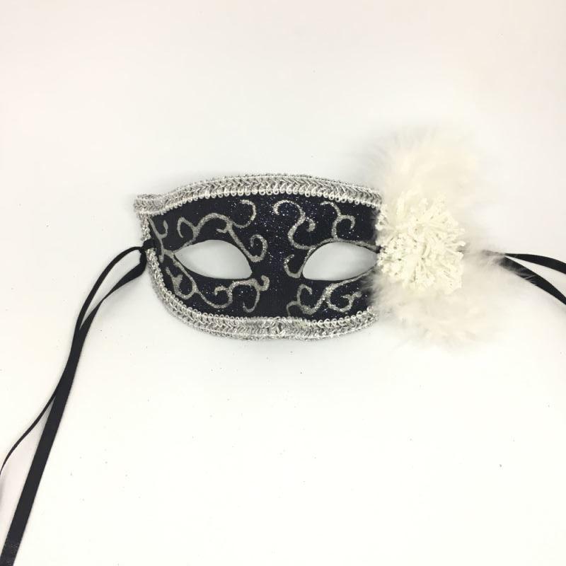 """Карнавальная маска """"Белые брызги"""""""