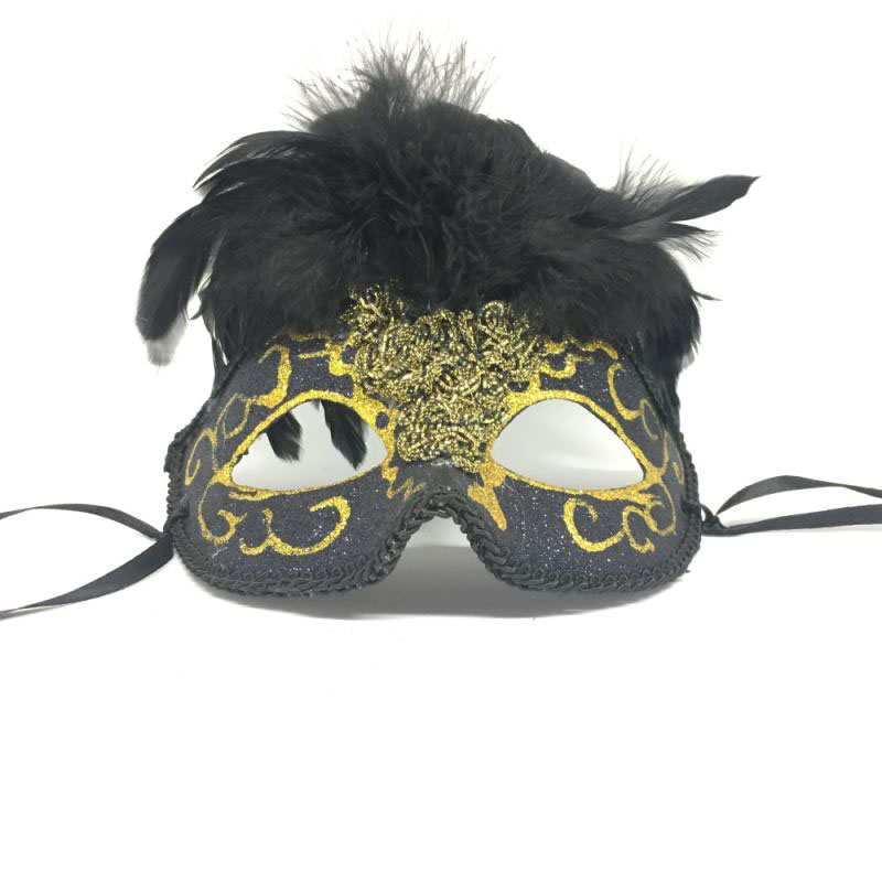 """Карнавальная маска """"Черный фонтан"""""""