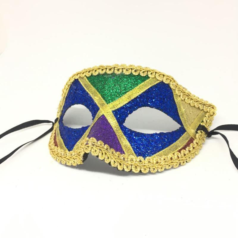 """Карнавальная маска """"Арлекин с синими глазами"""""""