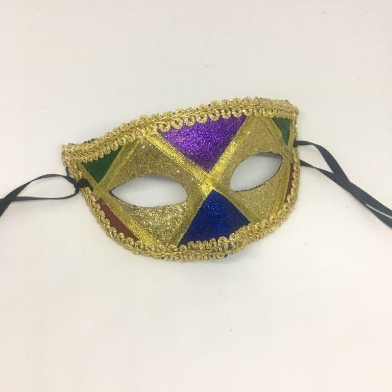 """Карнавальная маска """"Арлекин с золотыми глазами"""""""