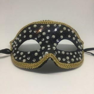 """Карнавальная маска """"Морозные капли в золоте"""""""