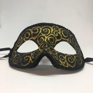 """Карнавальная маска """"Золотые спирали"""""""
