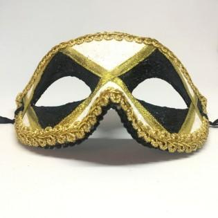 """Карнавальная маска """"Арлекин черно-белый"""""""