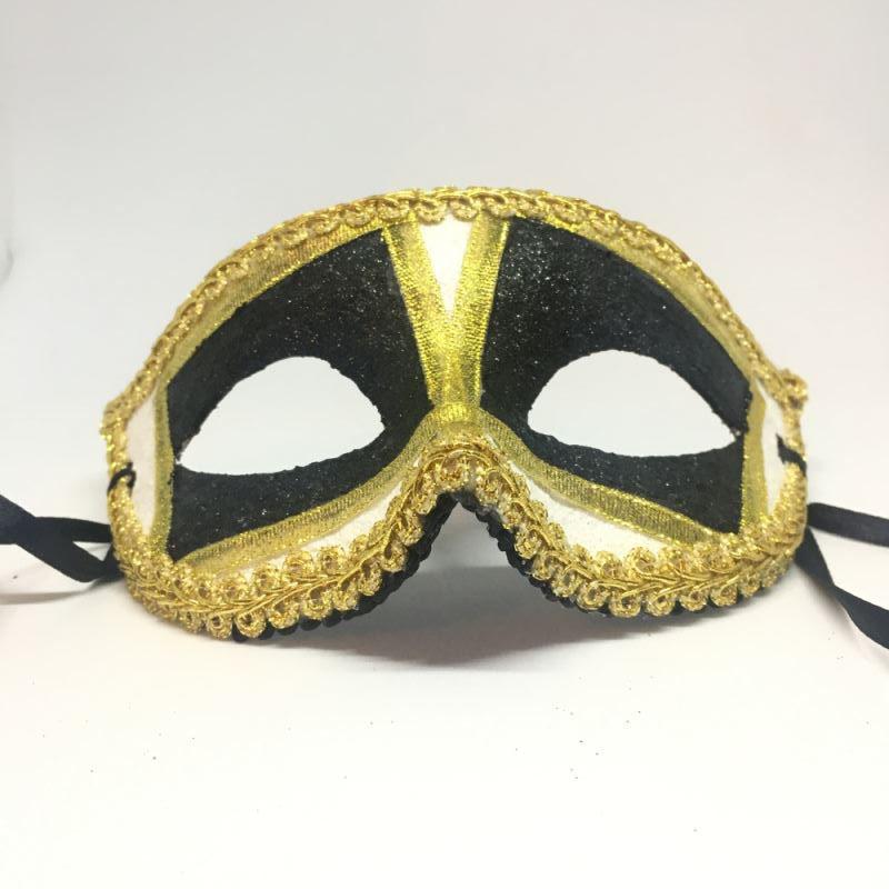 """Карнавальная маска """"Пьеро черно-белый"""""""