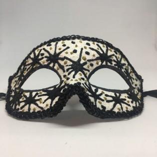 """Карнавальная маска """"Черные звезды"""""""