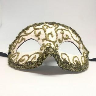 """Карнавальная маска """"Золотой изысканый узор"""""""