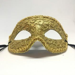 """Карнавальная маска """"Золотой плющ в золоте"""""""